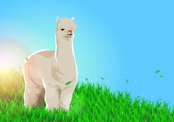 Lama Alpaca Vector Background - Free vector #402471