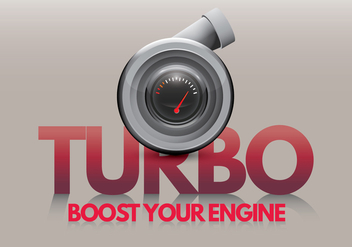 Turbocharger Boost Your Engine - vector gratuit #402511