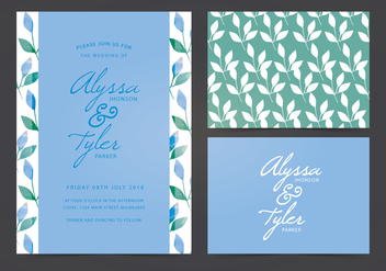 Vector Wedding Invite - Kostenloses vector #402911