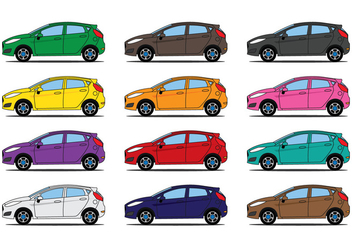 Ford Fiesta Illustration - vector gratuit #402981