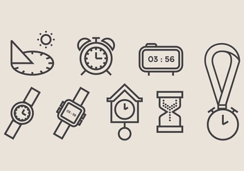 Sun Dial and Clock Vector Icon - Free vector #403181