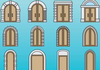 Cute Doors And Portals - vector gratuit #403241