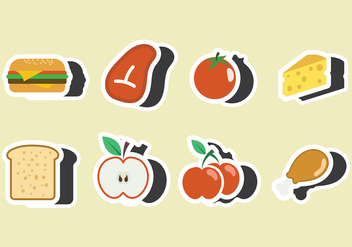 Lunch Fridge Magnet Vector - vector gratuit #403311