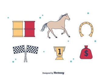 Barrel Racing Icons - Free vector #403671