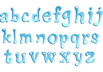 Lower Case Water Font - vector gratuit #404121