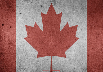 Grunge Canadian Vector Flag - бесплатный vector #404181