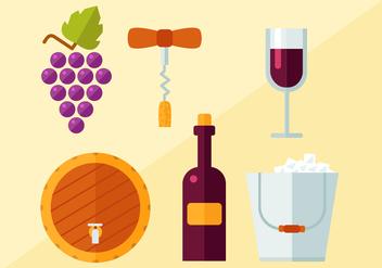 Free Wine Vector - Kostenloses vector #404281