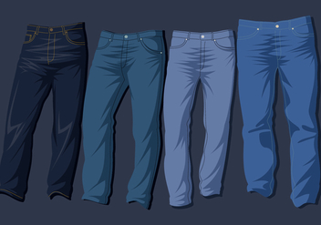 Blue Jeans Free Vector - Kostenloses vector #404501