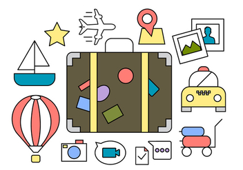 Free Travel Icons - vector #404551 gratis