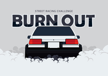 AE86 Car Drifting and Burnout Illustration - Free vector #404761