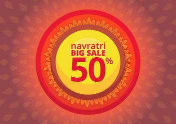 Navratri Big Sale Illustration - Free vector #404781