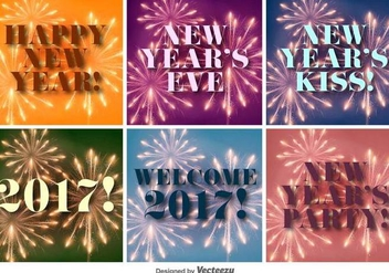 Happy New Year 2017 Vector Backgrounds - Kostenloses vector #404911