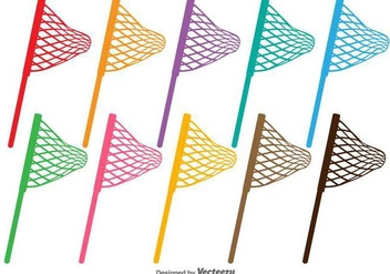 Fishing Net Vector Silhouettes - vector gratuit #404941
