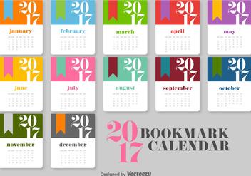 Calendar 2017 Vector Template - Kostenloses vector #404951
