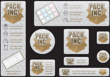 Packaging Banners - vector gratuit #404981