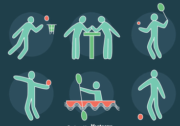 Hand Drawn Sports Icons Vector - Free vector #405071