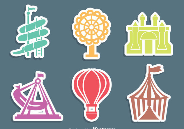 Theme Park Icons Vector - vector gratuit(e) #405081