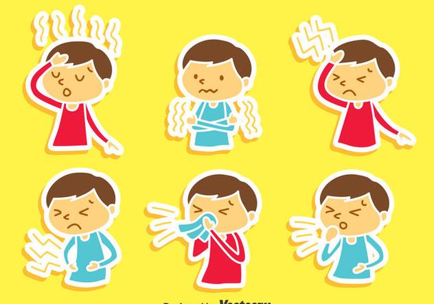 Pain And Affliction Cartoon Children Vector - vector gratuit(e) #405121