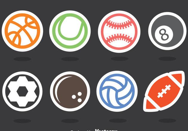 Balls Sticker Vector Set - vector gratuit(e) #405131