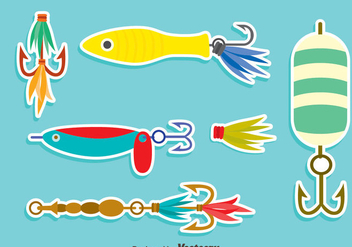 Nice Fishing Lure Vector Set - Free vector #405141