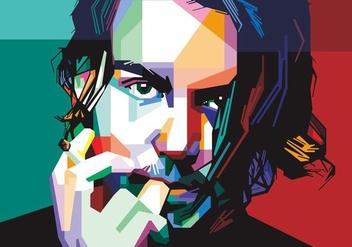 Johnny Depp Vector - Free vector #405451