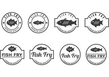 Free Fish Fry Badge Vectors - Kostenloses vector #405471