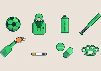 Hooligans Icon - Free vector #405531