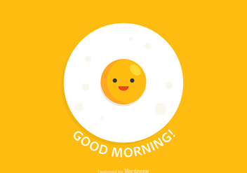 Free Good Morning Egg Vector Card - бесплатный vector #405741