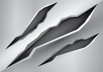 Free Metal Tear Vector Illustration - Free vector #405771