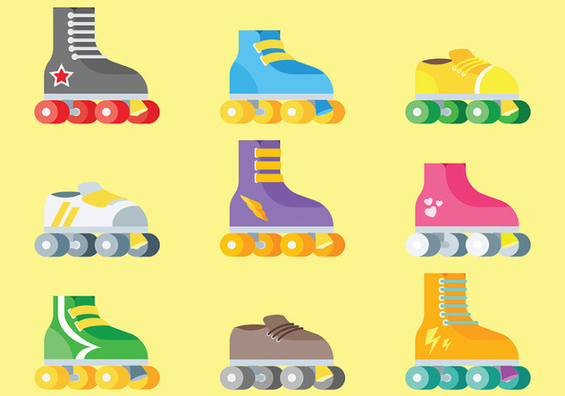 Free Roller Derby Icons Vector - Free vector #406011