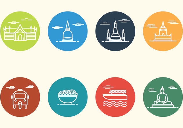 Free Minimalist Bangkok Icon - Free vector #406081
