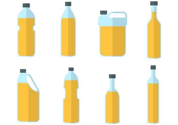Free Palm Oil Bottle Vector - Free vector #406091