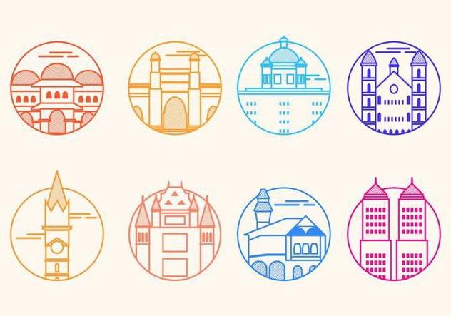 Free Mumbai Landmark Vector Icon - Free vector #406161