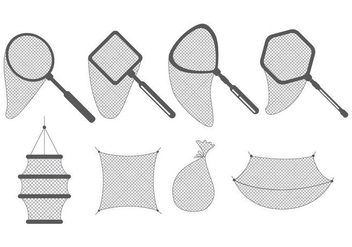 Fishing Net Icons - vector #406301 gratis