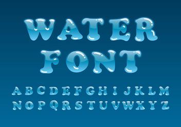 Water Font Vector - Free vector #406331