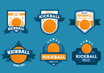 Kickball Vector Badge Sets - Free vector #406361