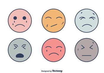Smiley Affliction Faces - Free vector #406371