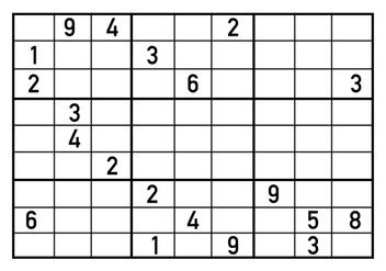 Sudoku Puzzle Vector - Kostenloses vector #406401