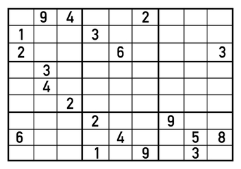 Sudoku Puzzle Vector - бесплатный vector #406401