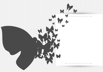 Vector Butterflies Background Design - бесплатный vector #406461