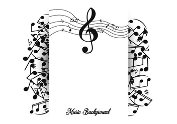 Note Of Music Background Template - vector gratuit #406541