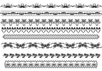 Free Lace Trim Vector - Free vector #406701