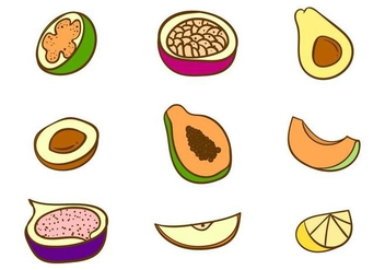 Free Fruits Vector - бесплатный vector #406731