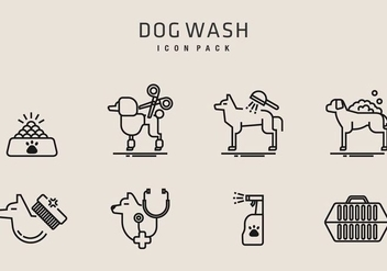 Dog Wash Icons - Free vector #406821