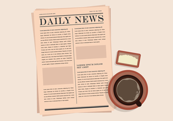 Old Newspaper Illustration - бесплатный vector #407021