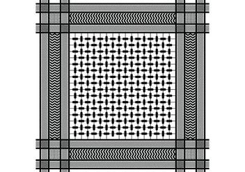Keffiyeh Black Seamless Pattern - Kostenloses vector #407071