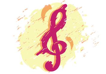 Artistic Violin Key - Kostenloses vector #407151