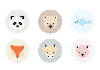 Animal Vector Icons - Kostenloses vector #407411