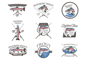 Free Rainbow Trout Vector - Free vector #407481