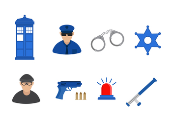 Free Police Vector Icon - Free vector #407591